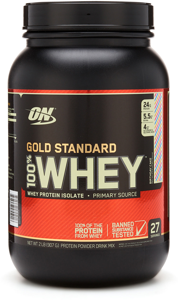 Протеин Optimum Nutrition 100% Whey Protein Gold Standard, праздничный кекс, 900 г цена