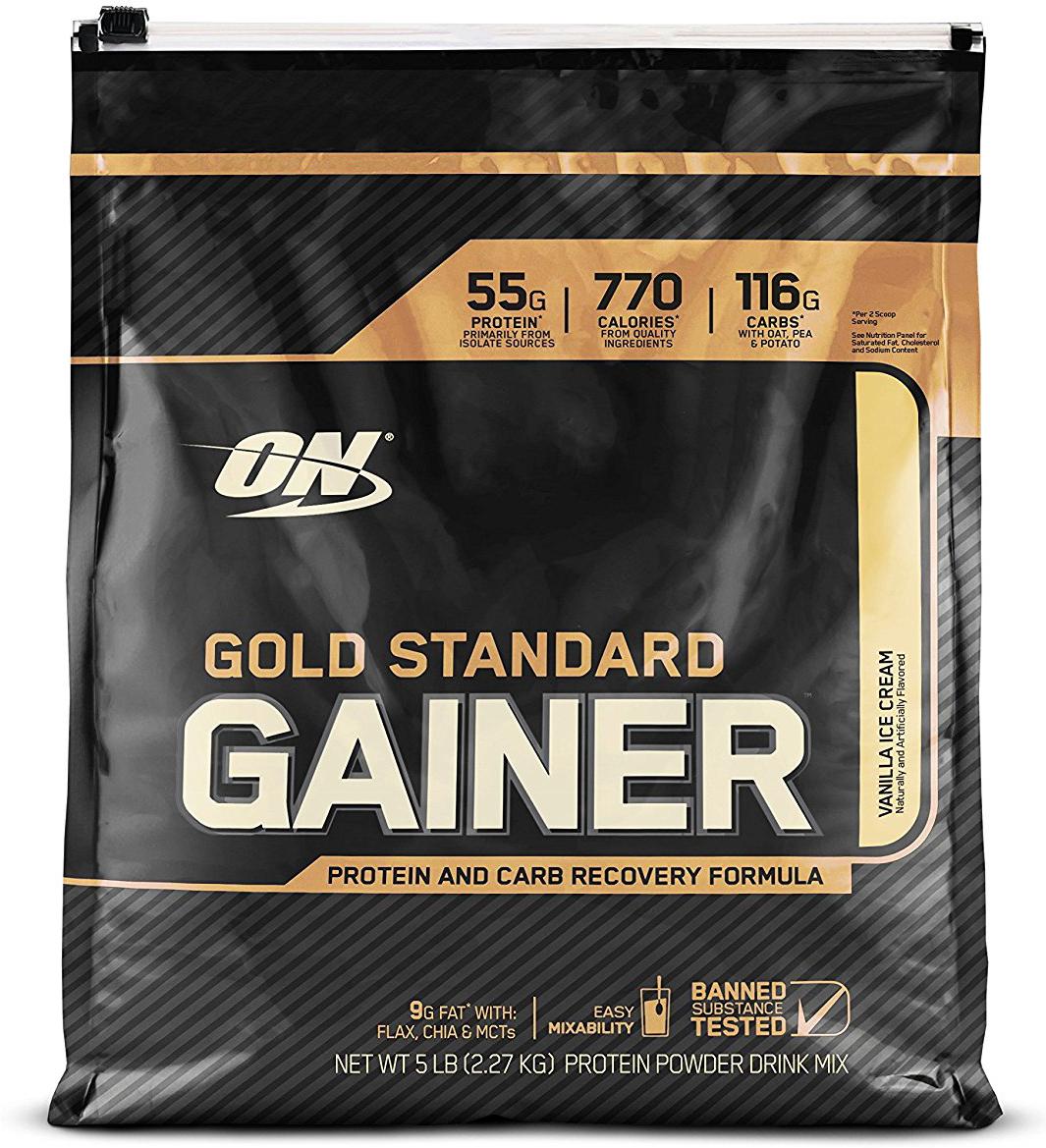 Гейнер Optimum Nutrition Gold Standard Gainer, ваниль, 2,26 кг