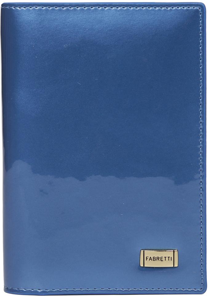 Обложка для документов женская Fabretti, цвет: синий. 54019-blue L недорго, оригинальная цена