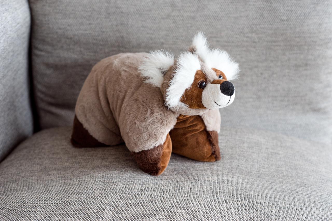 Мягкая игрушка Плюш Ленд JC207 светло-коричневый, коричневый, белый