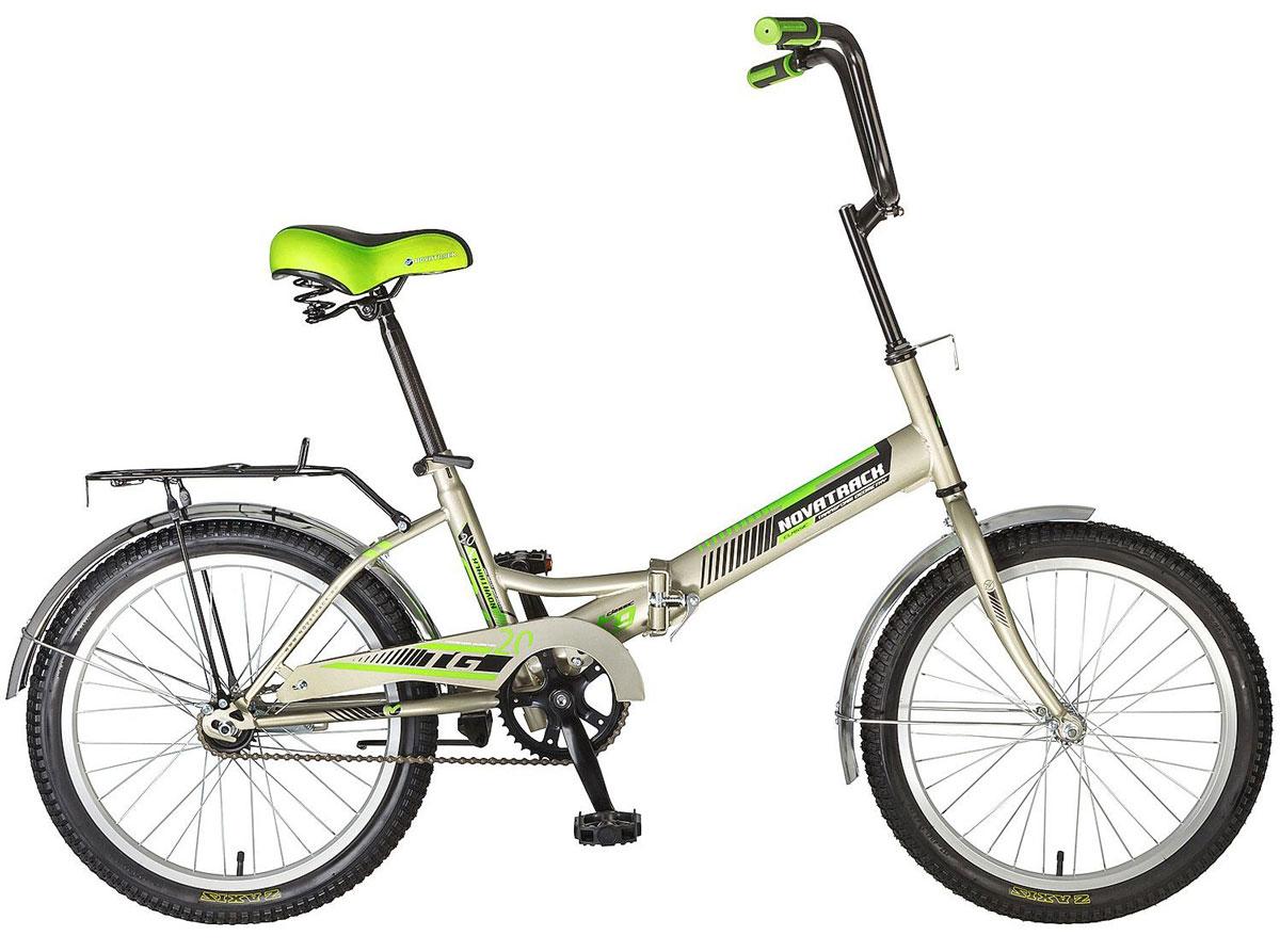 Велосипед детский Novatrack TG-30 Classic, цвет: серый, салатовый, 20