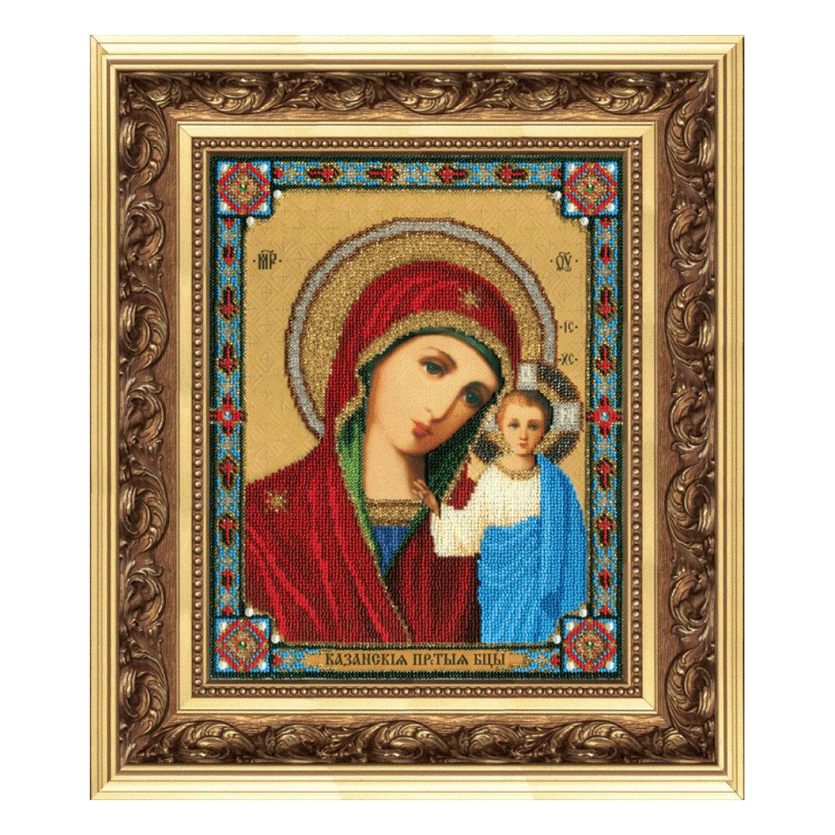 Набор для вышивания бисером Чарівна Мить Икона Божья Матерь Казанская, 9 х 11 см икона юлия бисер
