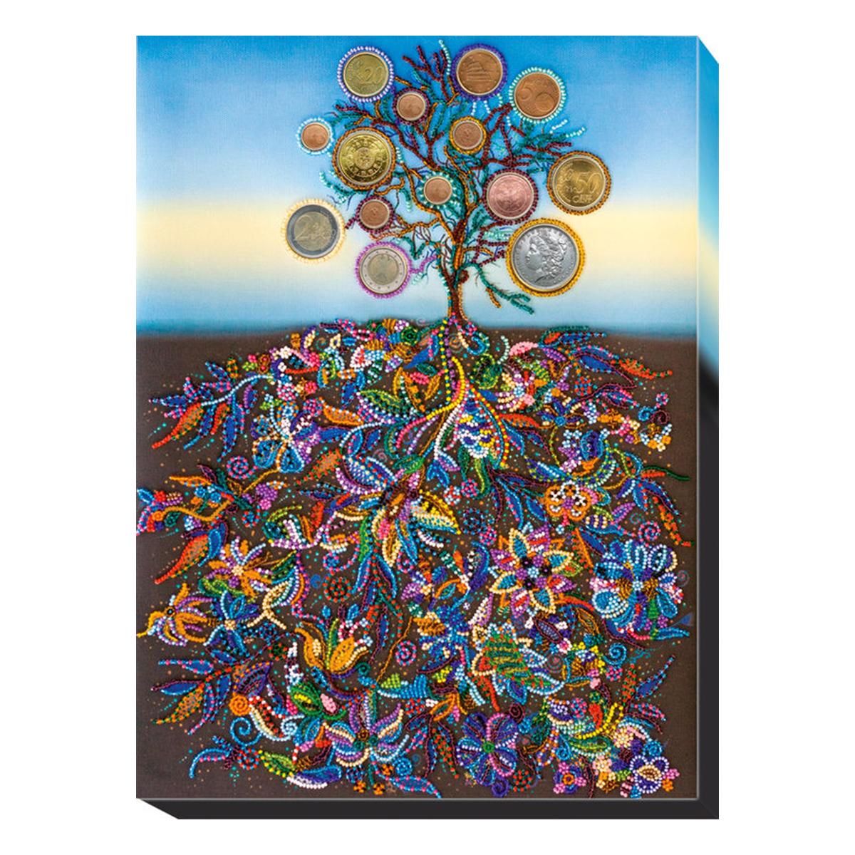 """Набор для вышивания бисером Абрис Арт """"Денежное дерево"""", 31 х 42 см"""