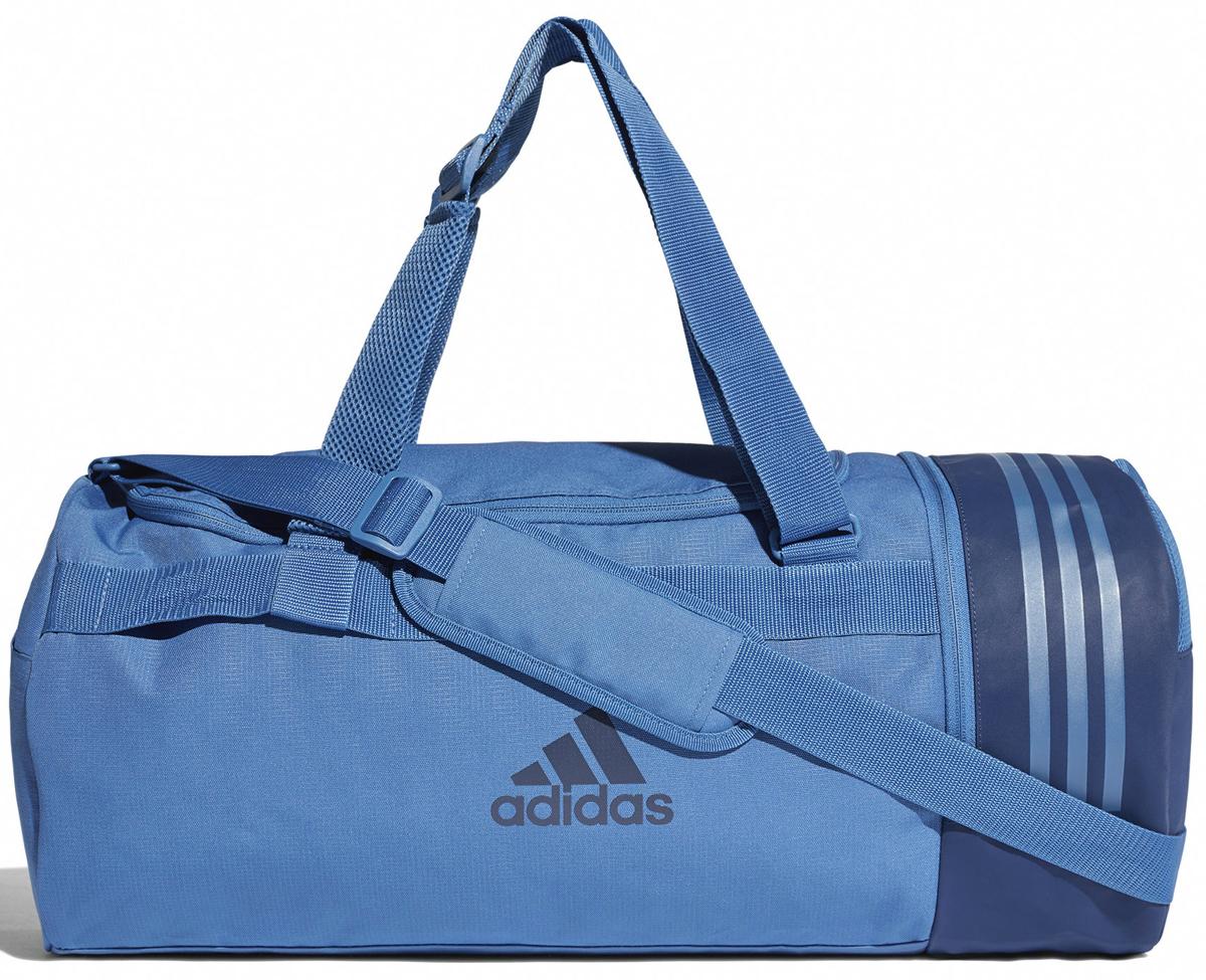 8f5e9071bf42 Сумка спортивная мужская Adidas Cvrt 3S Duf M, цвет: синий, 37 л. CV5077 —  купить в интернет-магазине OZON.ru с быстрой доставкой