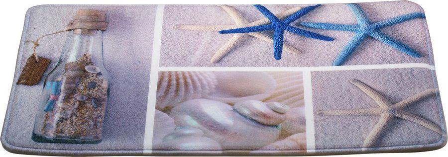 Коврик для ванной Brissen Cruise, цвет: голубой, 50 х 80 см коврик для ванной brissen 50х80 см cruise memory foam полиэстер swm 6005