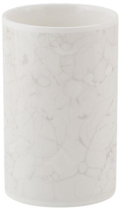 Стакан для ванной комнаты Swensa MarmoSWTK-2900CСтакан для зубных щеток Swensa Marmo напомнит каждому члену семьи об изысканном французском стиле и привнесет атмосферу уюта в ванную комнату. Простой, но запоминающийся дизайн без излишеств и ярких цветов порадует ценителей изысканных предметов интерьера. Модель изготовлена из керамики. Этот материал отличается устойчивостью к влаге и температурным режимам, невосприимчивостью к бытовой химии, легкостью очистки. Даже спустя годы эксплуатации керамическая посуда остается в хорошем состоянии и не требует замены.