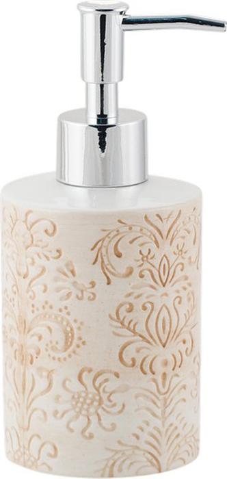 "Диспенсер для мыла Swensa ""Trevi"", цвет: бежевый, 250 мл"