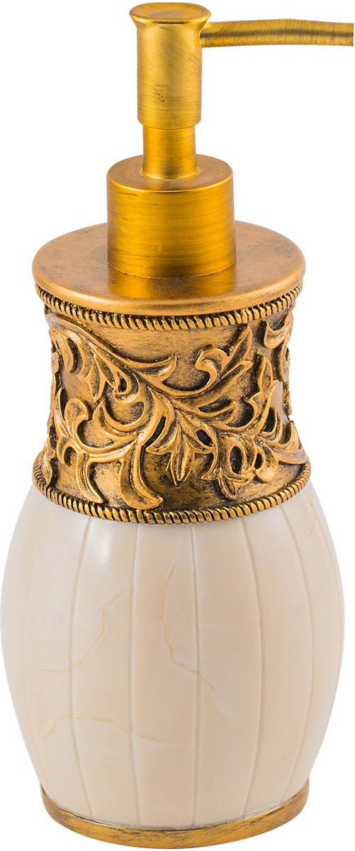 """Диспенсер для мыла Swensa """"Флоренция"""", цвет: слоновая кость, 250 мл"""