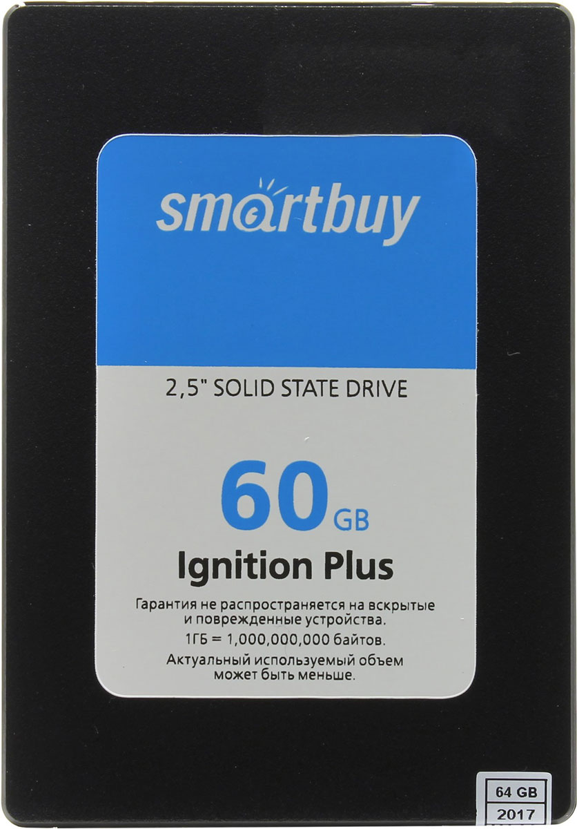 Smartbuy Ignition Plus 60GB SSD-накопитель (SB060GB-IGNP-25SAT3)