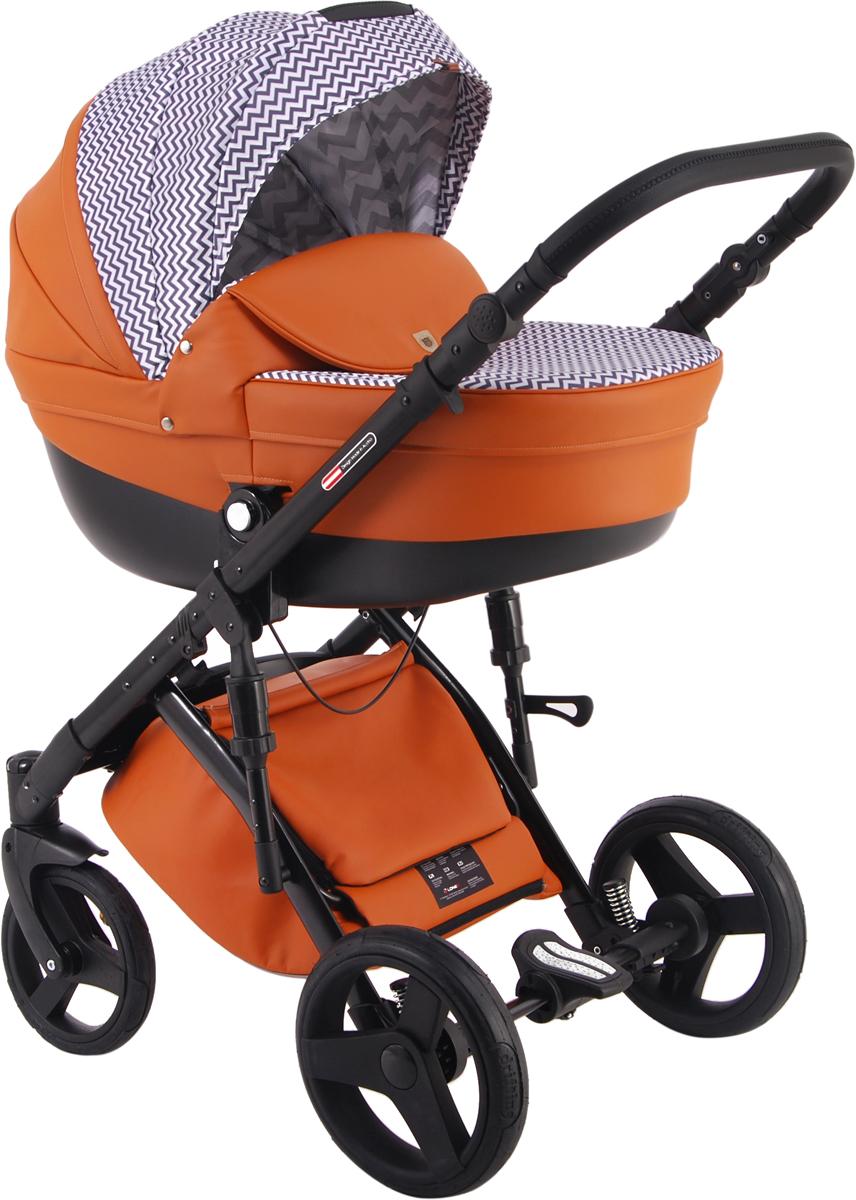 Универсальная коляска Lonex Comfort Gallaxy 2в1, LX-CT-G-01, оранжевый, зигзаг