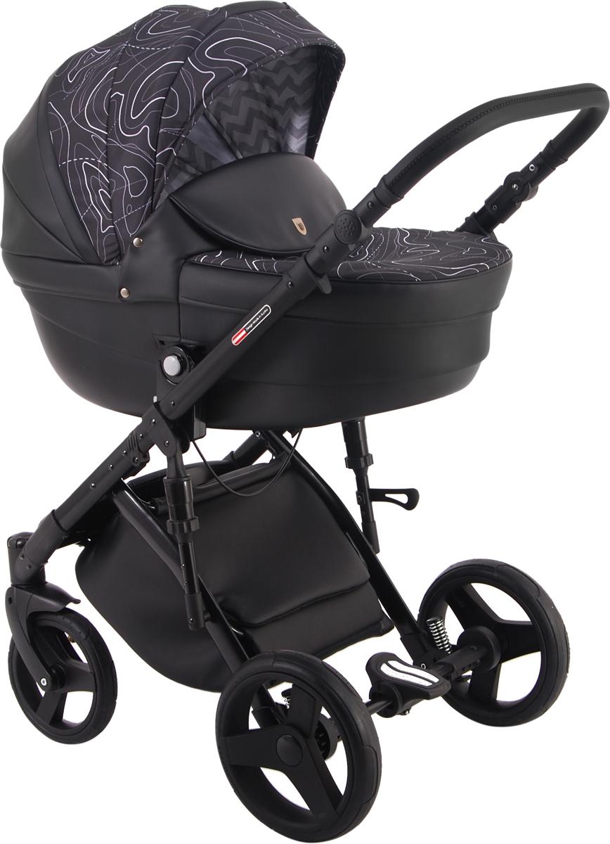 Универсальная коляска Lonex Comfort Gallaxy 2в1, LX-CT-G-04, черный, абстракция