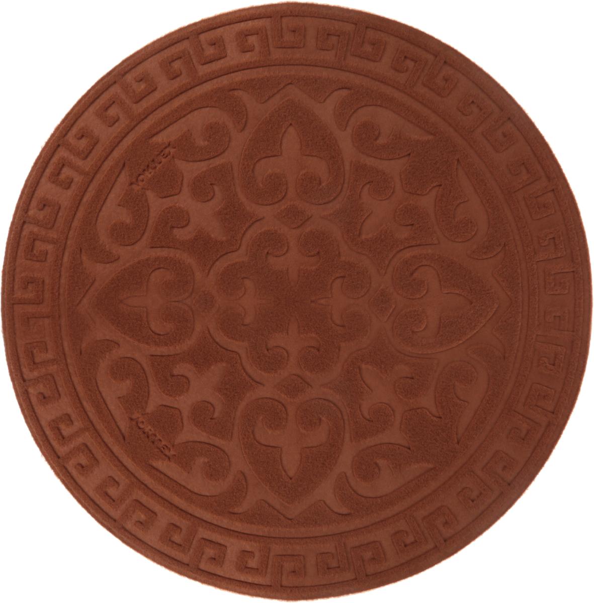 Коврик придверный Vortex Comfort, цвет: коричневый, 65 х 65 см коврик vortex на ступеньку цвет коричневый 25 х 65 см