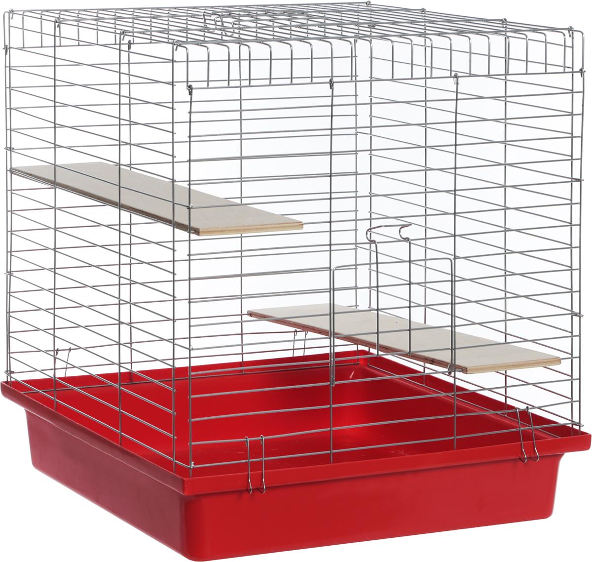 Клетка для шиншилл Велес Lusy Jerry, разборная, 56 х 50 х 60 см клетка для грызунов велес с полками цвет серый 40 х 58 х 45 см