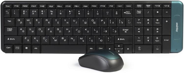 лучшая цена Комплект мышь + клавиатура SmartBuy SBC-222358AG-K, Black