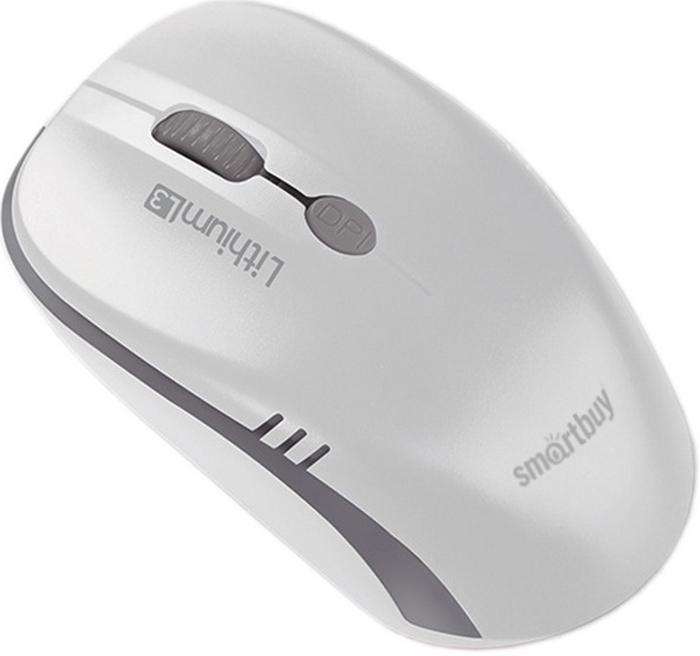 Мышь SmartBuy ONE 344CAG, White Grey беспроводная с USB-зарядкой