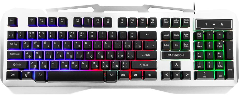 Игровая клавиатура Гарнизон GK-500G, Gray Metallic ds 08 portable digital scale 500g 0 1g