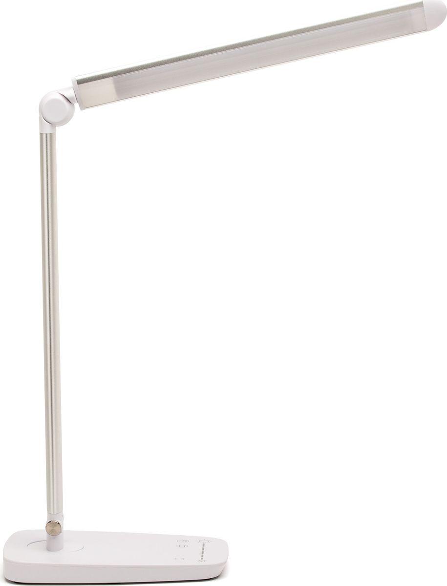 Лампа настольная Лючия L520. Galant, светодиодная, цвет: серый металлик, 10W usb перезаряжаемый высокой яркости ударопрочный фонарик дальнего света конвой sos факел мощный самозащита 18650 батареи