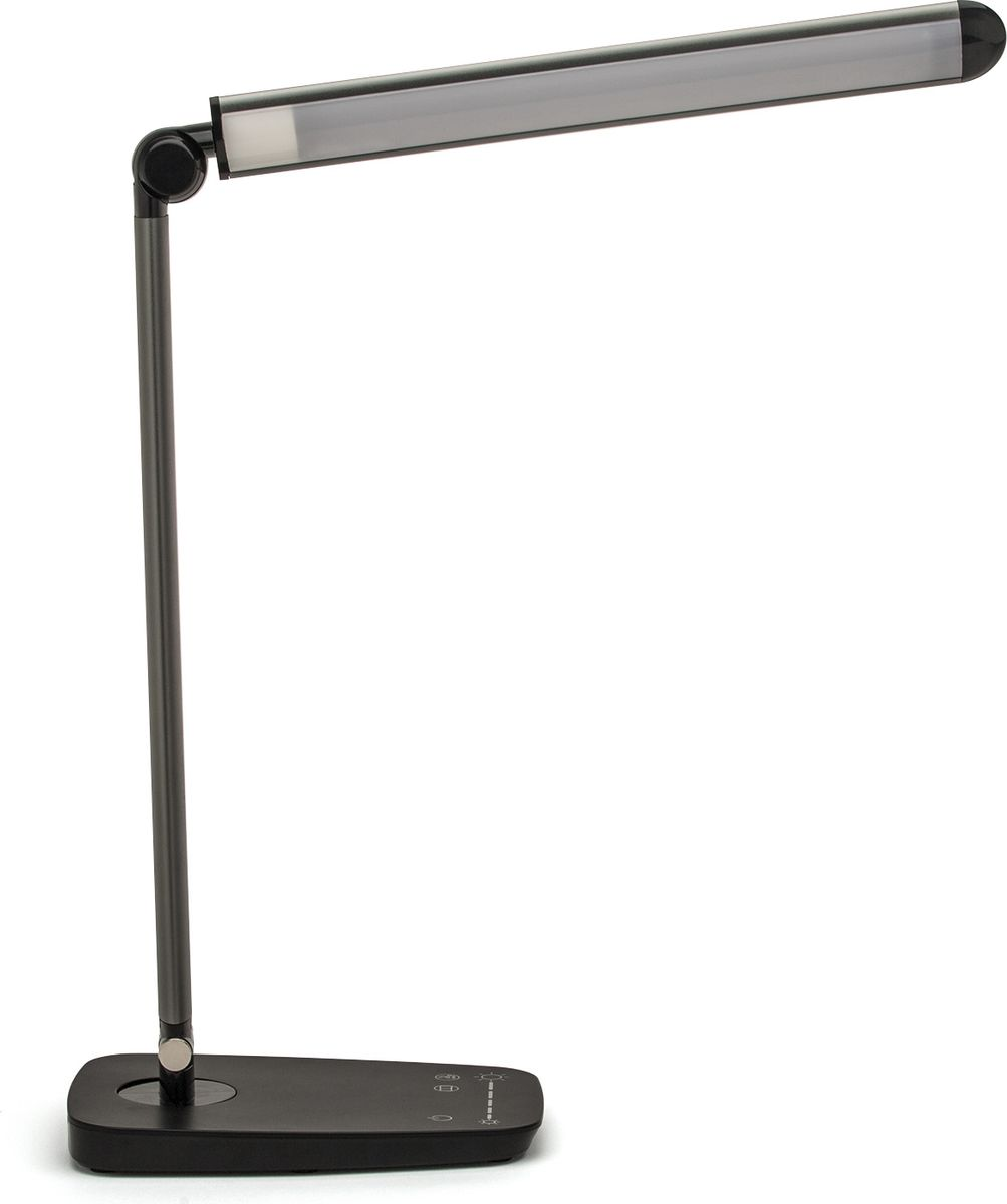 Лампа настольная Лючия L520. Galant, светодиодная, цвет: черный, 10W usb перезаряжаемый высокой яркости ударопрочный фонарик дальнего света конвой sos факел мощный самозащита 18650 батареи