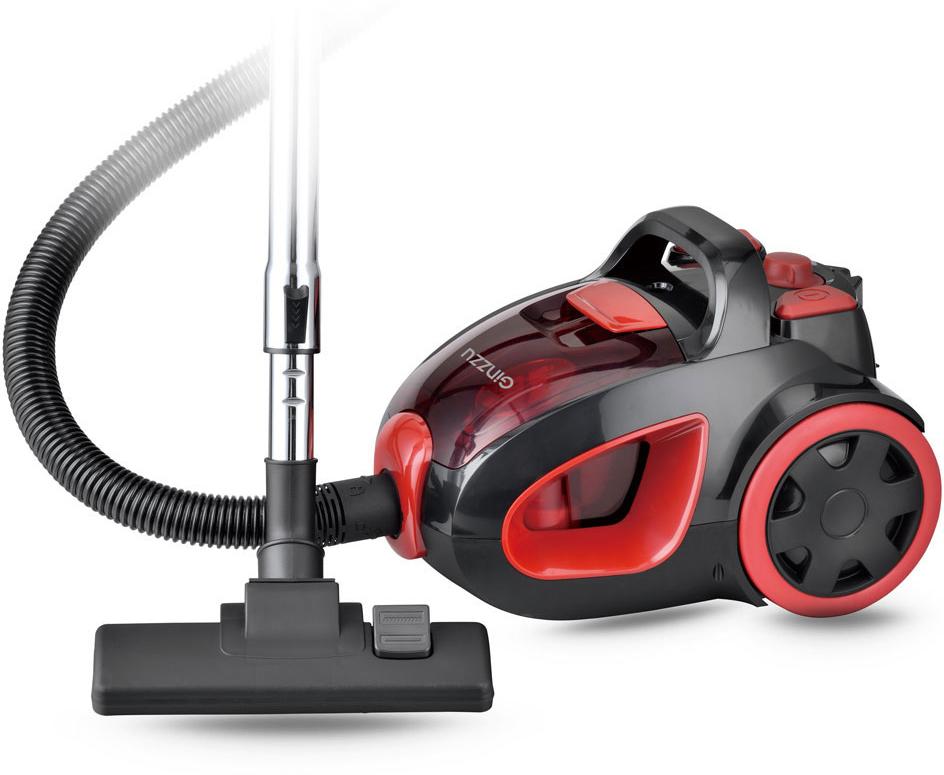 Пылесос Ginzzu VS437, Black Red пылесос supra vcs 1602 red 1600 вт с мешком для сбора пыли