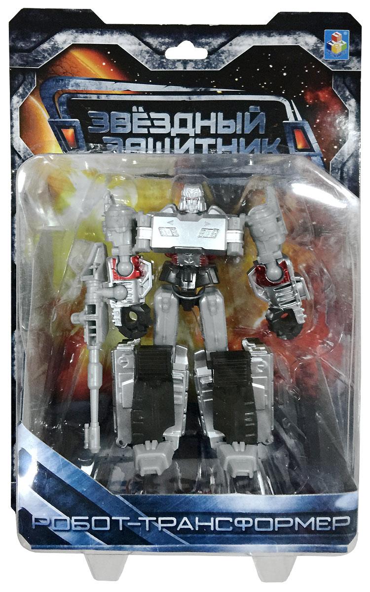 1TOY Робот-трансформер Звездный защитник танк 12 см робот трансформер 3 в 1 база игрушек защитник