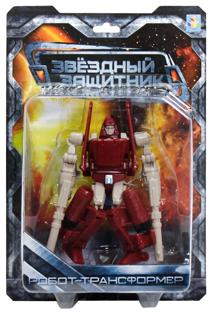 1TOY Робот-трансформер Звездный защитник самолет 12 смТ59371Этому роботу-трансформеру из серии Звездный защитник не терпится превратиться в самолет и оторваться от земли, чтобы поражать своих врагов точными воздушными ударами. Такая игрушка заинтересует мальчиков, увлекающихся боевыми роботами и сюжетными играми с их участием. Этот робот готов сопровождать армии из других игрушек мальчишки или же сокрушать врагов, оставаясь одиноким волком и не требуя подмоги.