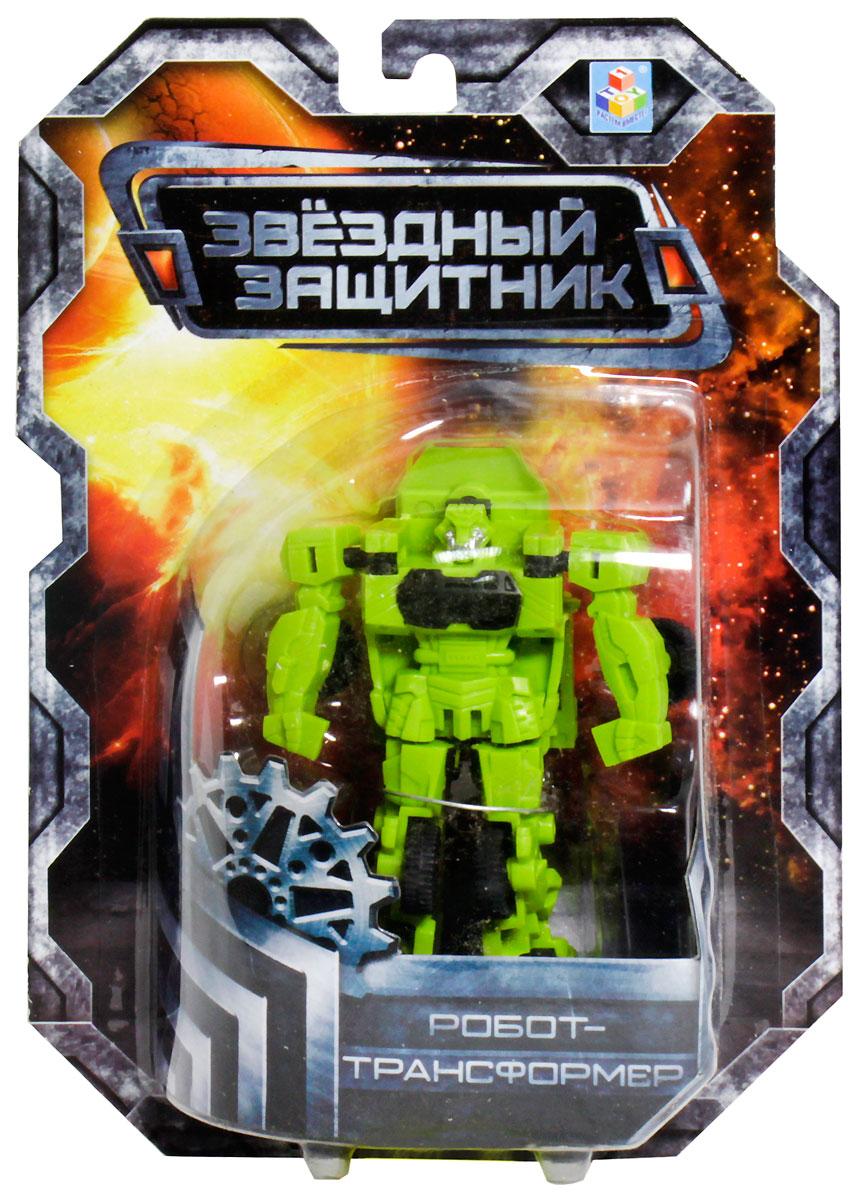 1TOY Робот-трансформер Звездный защитник бронированная машина 7 см робот трансформер 3 в 1 база игрушек защитник