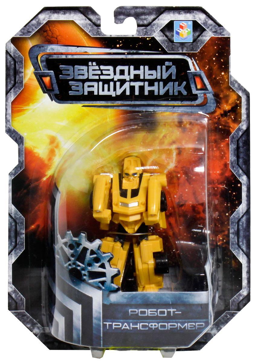 1TOY Робот-трансформер Звездный защитник спортивный автомобиль 7 см робот трансформер 3 в 1 база игрушек защитник
