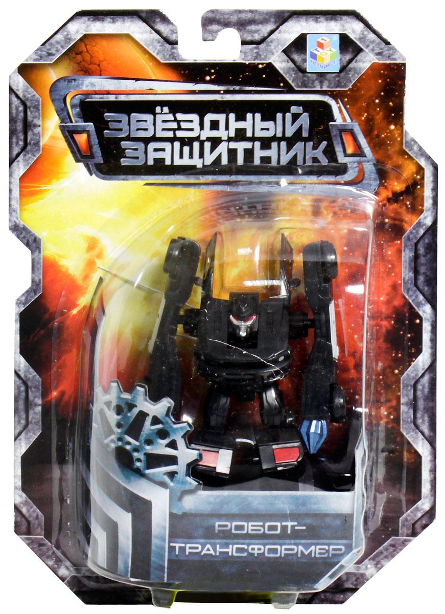 1TOY Робот-трансформер Звездный защитник полицейский автомобиль 7 см робот трансформер 3 в 1 база игрушек защитник
