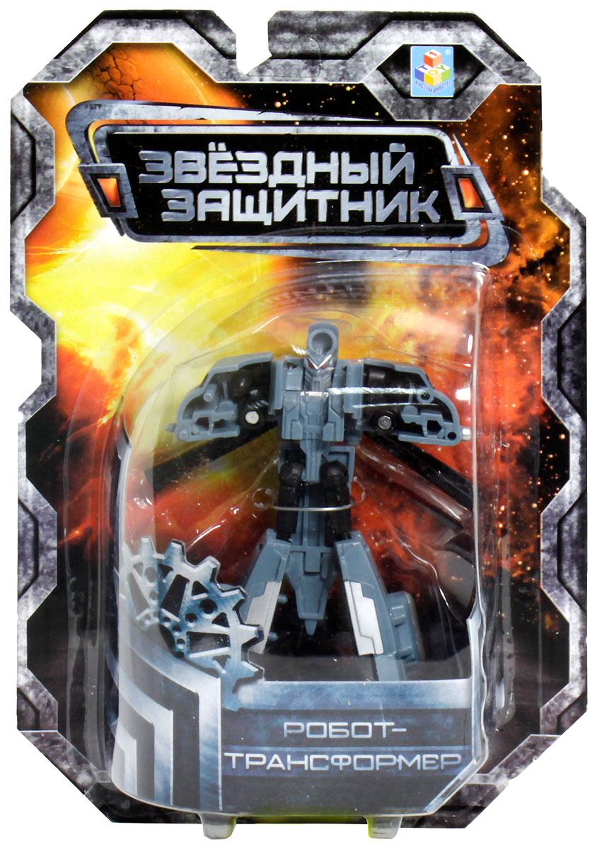 1TOY Робот-трансформер Звездный защитник вертолет 7 см робот трансформер 3 в 1 база игрушек защитник