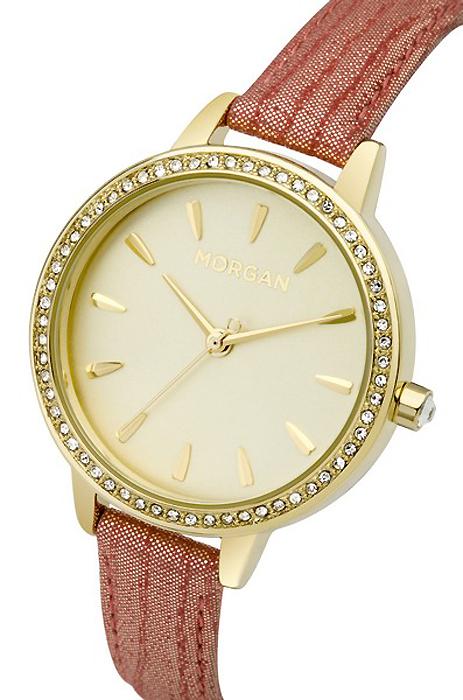 Часы наручные женские Morgan, цвет: коралловый, золотой. M1263COG все цены