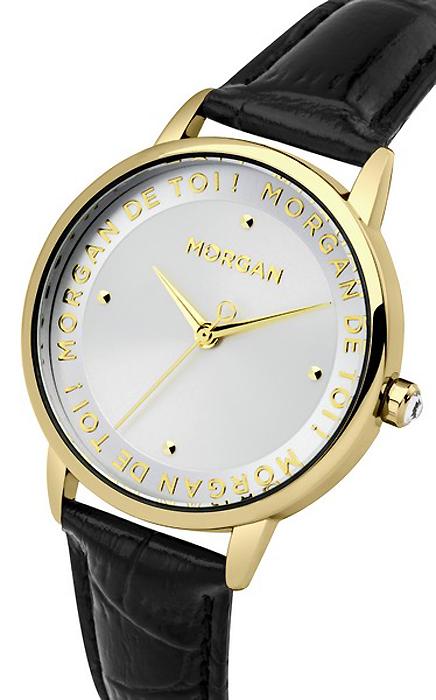 Часы наручные женские Morgan, цвет: белый, золотой, черный. M1279G все цены