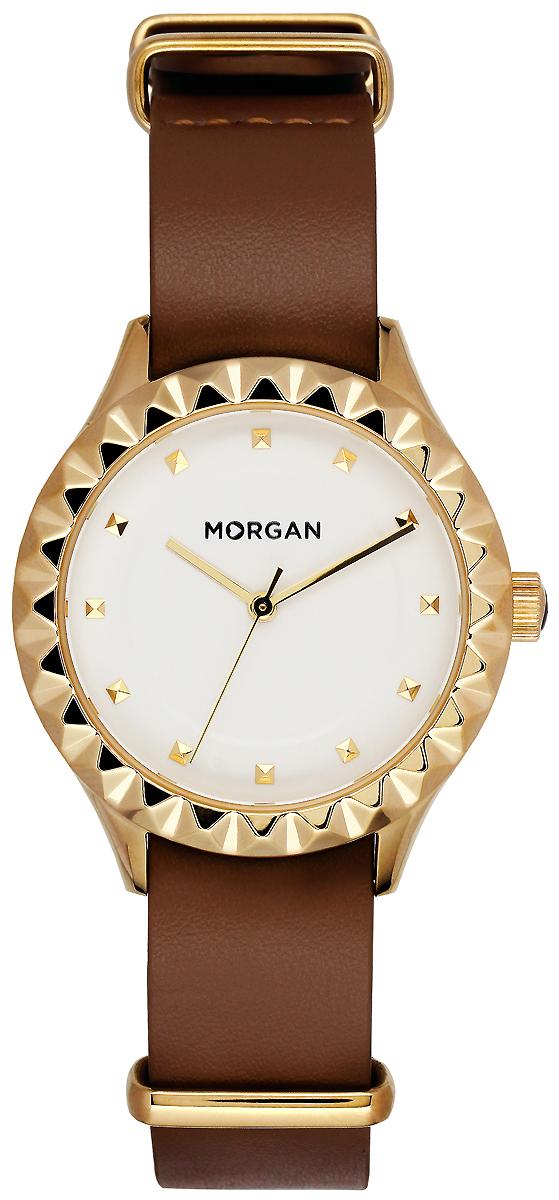 Часы наручные женские Morgan, цвет: коричневый, золотой. MG 001/1BU все цены