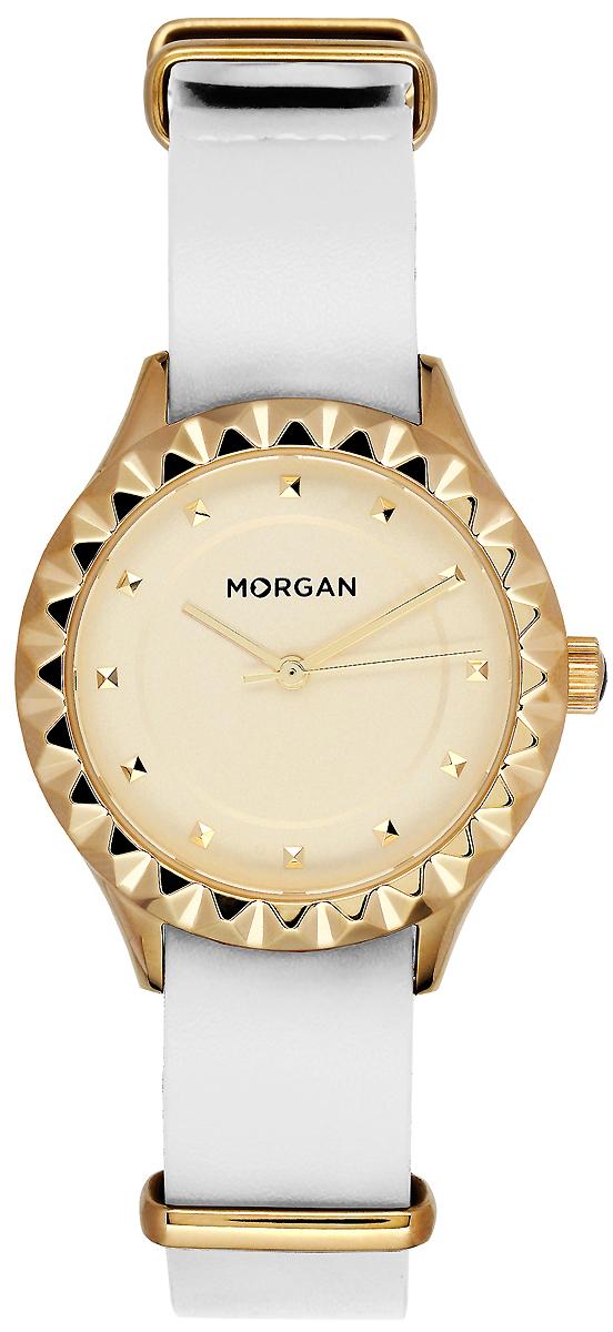 Часы наручные женские Morgan, цвет: золотой, белый. MG 001/1EB все цены