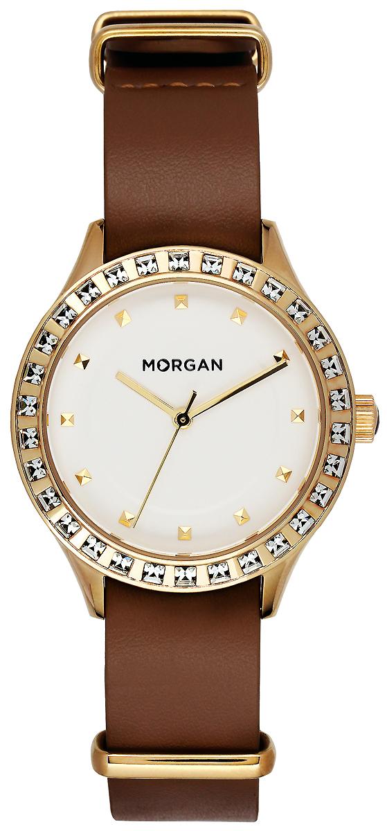 Часы наручные женские Morgan, цвет: коричневый, золотой. MG 001S/1BU все цены