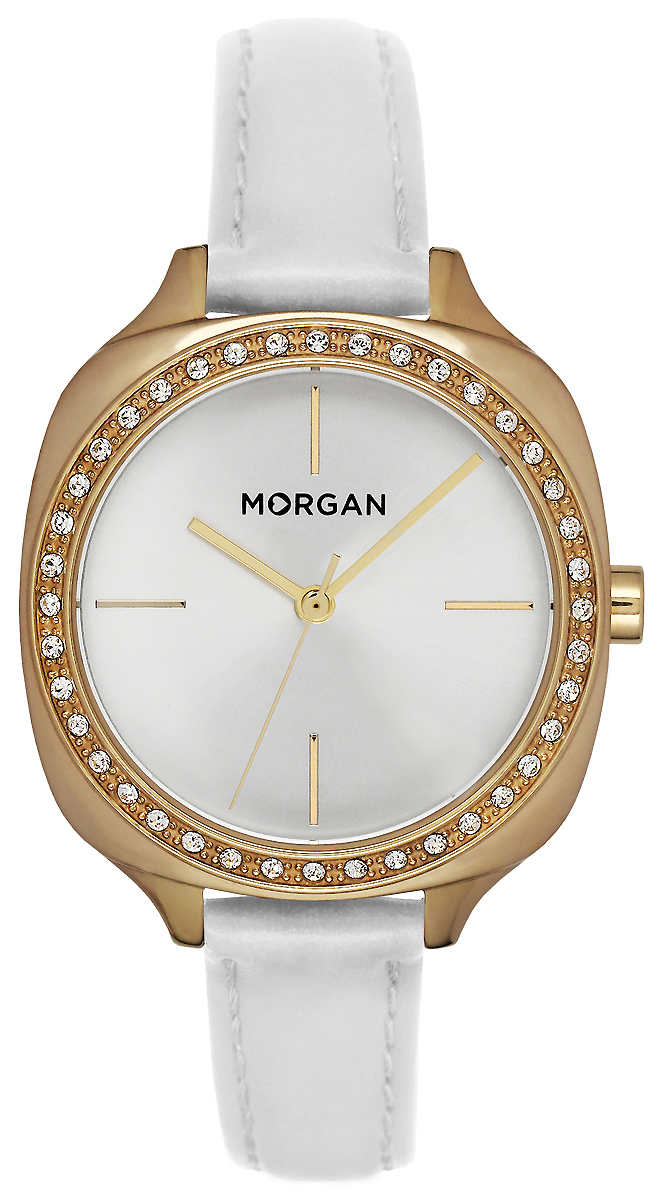 Часы наручные женские Morgan, цвет: белый, золотой. MG 003S/1BB все цены