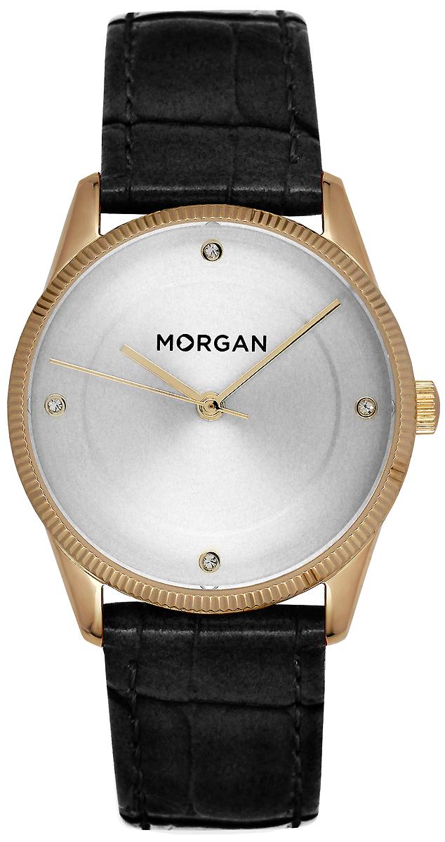 Часы наручные женские Morgan, цвет: серый металлик, черный, золотой. MG 005/1BA все цены