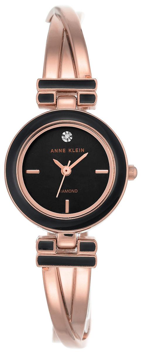 Часы наручные женские Anne Klein, цвет: черный, розовое золото. 2622 BKRG все цены