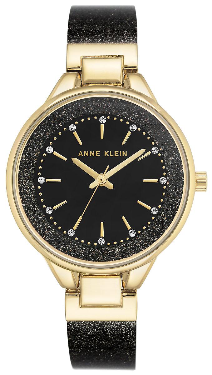 Часы наручные женские Anne Klein, цвет: черный, золотой. 1408 BKBK все цены