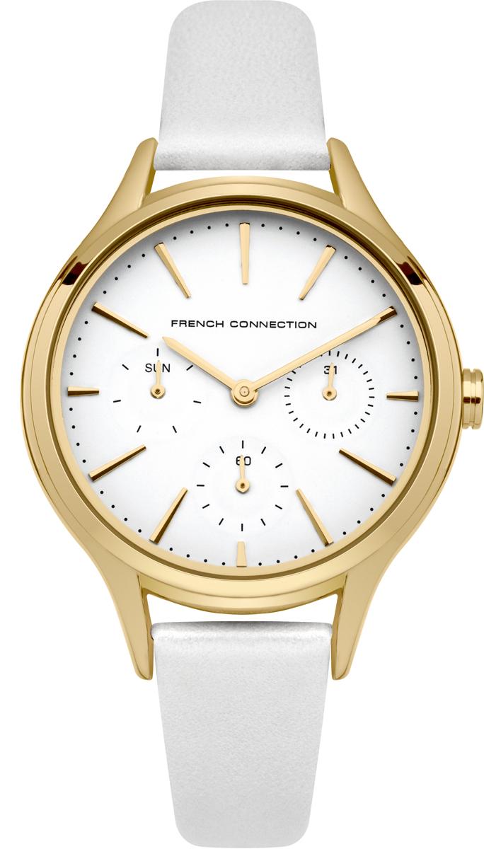 Часы наручные женские French Connection, цвет: белый, золотистый. FC1273WG все цены