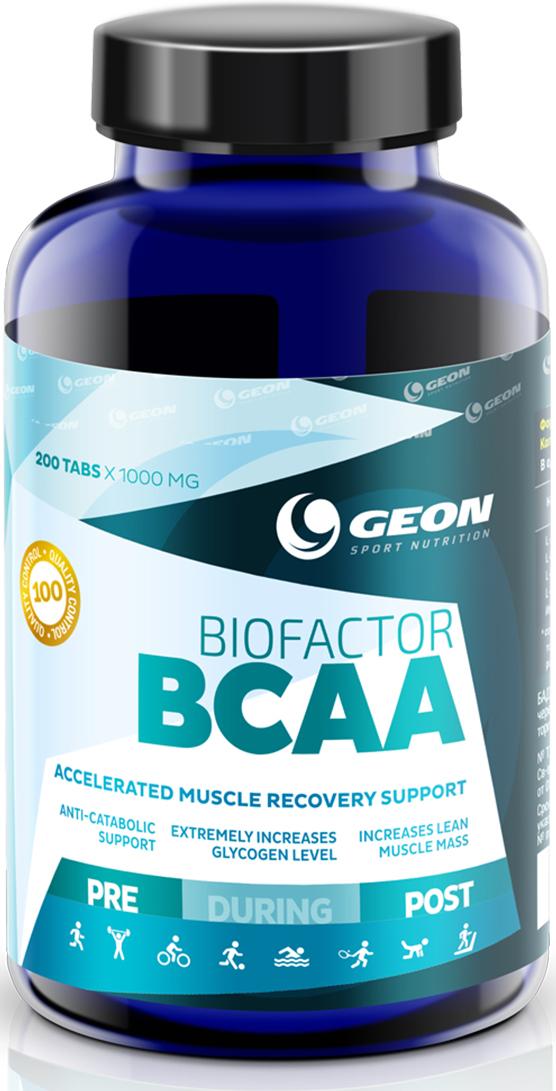 Комплекс аминокислот Geon Био Фактор ВСАА, 1000 мг, 200 таблеток комплекс аминокислот geon омега ликопин 700 мг 90 капсул