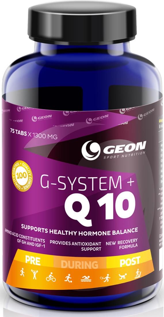 Витаминно-минеральный комплекс Geon Джи Систем + Q10, 1000 мг, 75 таблеток комплекс аминокислот geon омега ликопин 700 мг 90 капсул