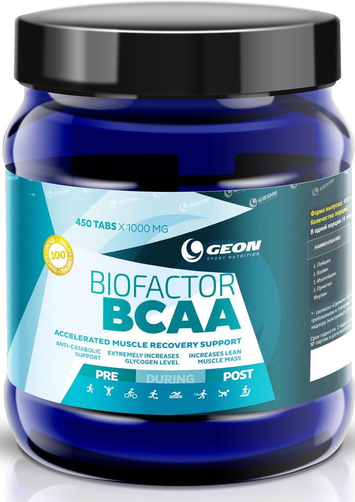 Комплекс аминокислот Geon Био Фактор ВСАА, 1000 мг, 450 таблеток комплекс аминокислот geon омега ликопин 700 мг 90 капсул