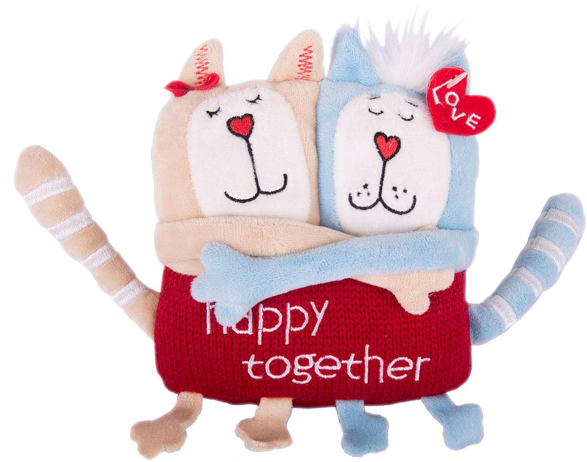 Gulliver Мягкая игрушка Кот и кошка Счастливы вместе 15 см