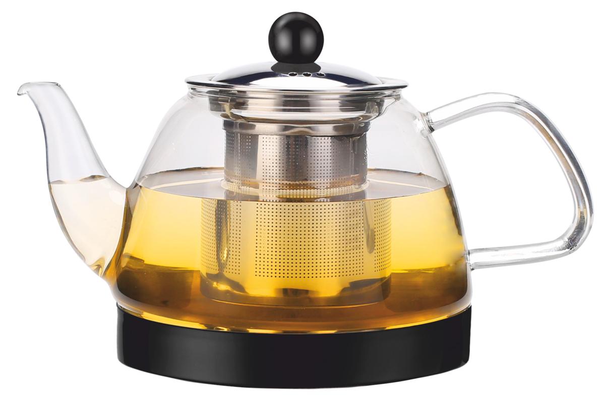 Чайник заварочный Vitesse, с фильтром, цвет: прозрачный, 800 мл. VS-4010 чайник заварочный vitesse с фильтром цвет прозрачный 800 мл vs 4010