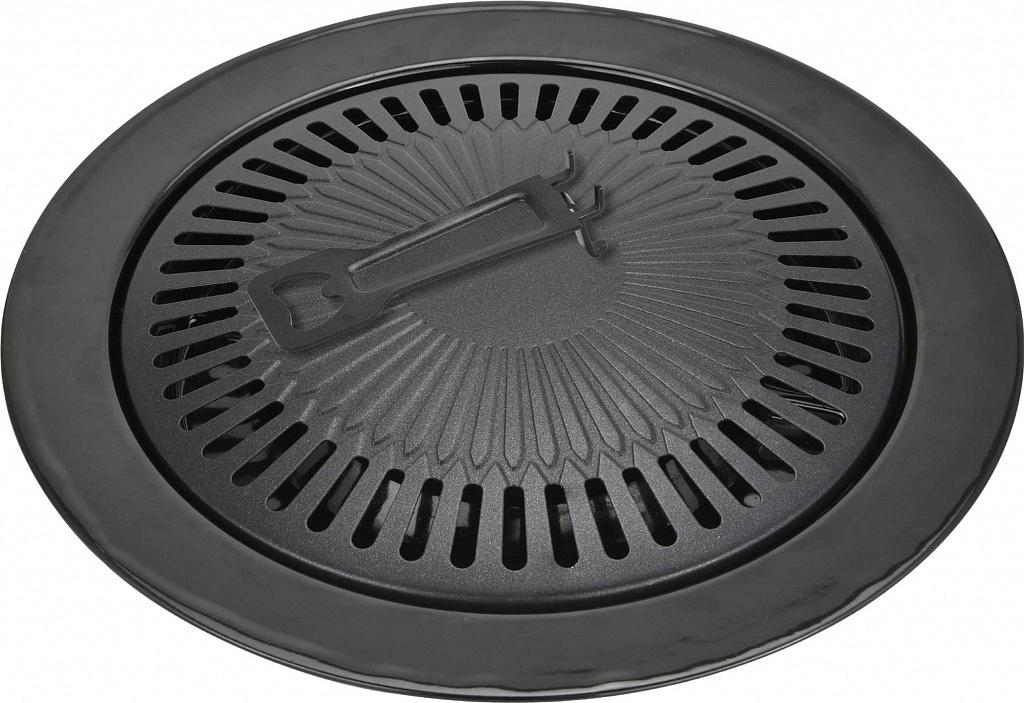 Сковорода-гриль Vitesse, со съемной ручкой, цвет: черный. Диаметр 33 см