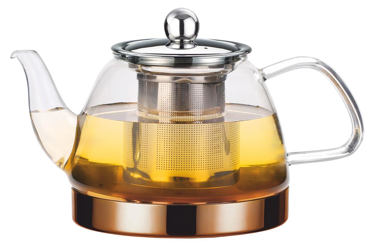 Чайник заварочный Vitesse, с фильтром, цвет: прозрачный, 800 мл. VS-4009 чайник заварочный vitesse с фильтром цвет прозрачный 800 мл vs 4010