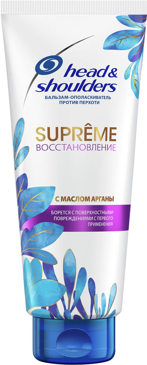 Head & Shoulders Бальзам-ополаскиватель против перхоти Supreme Восстановление Масло Арганы, 275 мл цена в Москве и Питере