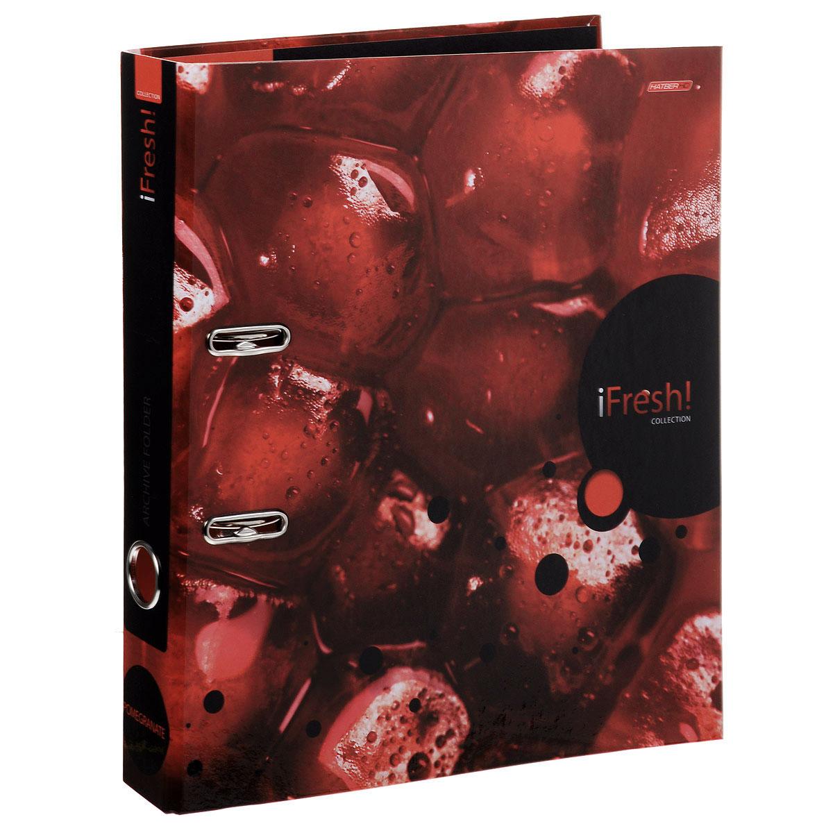 Папка-регистратор Hatber iFresh!: Гранат, цвет: бордовый папка регистратор hatber red on black ширина корешка 70 мм цвет черный красный