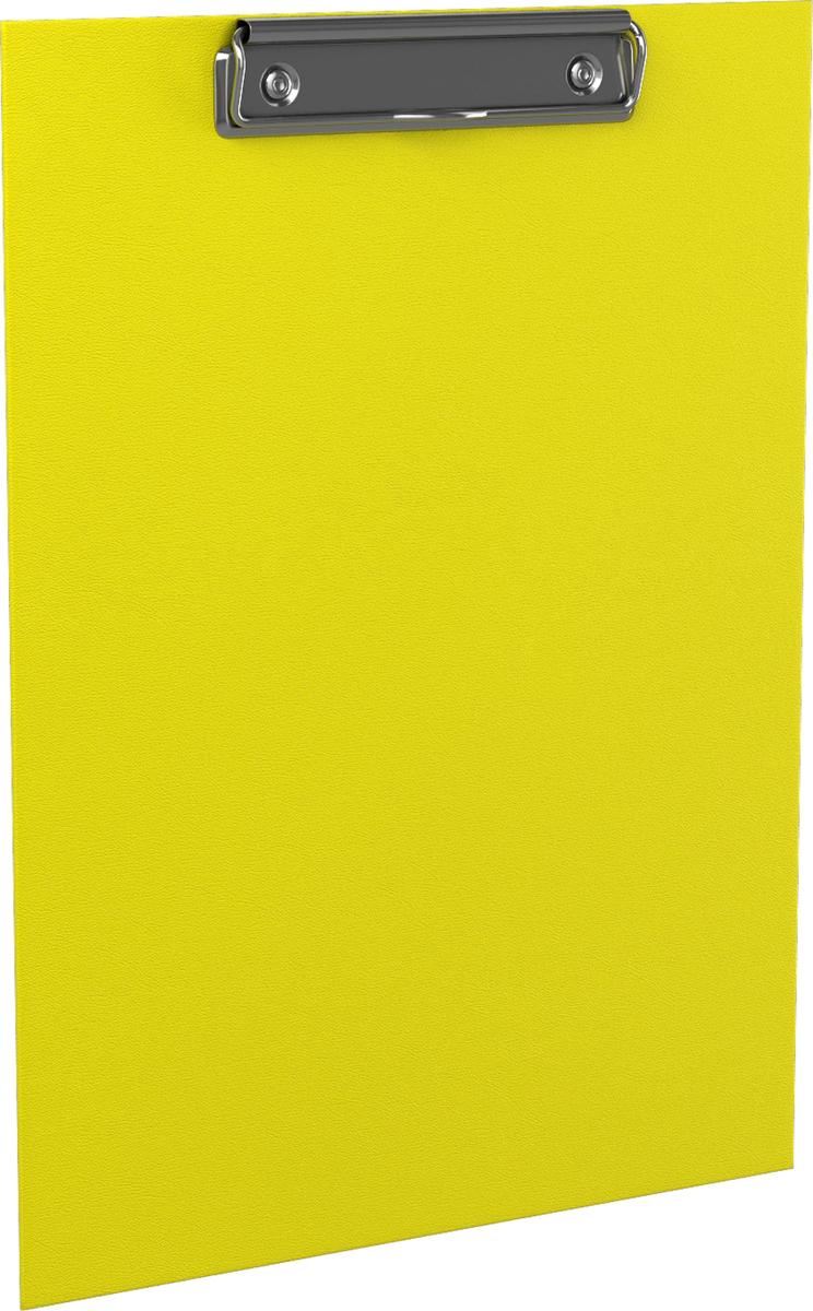 Планшет с зажимом ErichKrause Neon, А4, желтый45410Планшет с зажимом формата А4 изготовлен из плотного картона толщиной 2 мм, покрытого бумагой со структурным тиснением и водоотталкивающей поверхностью. Металлический зажим надежно удерживает листы и файлы. Планшет позволяет комфортно работать с документами на весу. Незаменим в организации работы помощника руководителя, менеджера по работе с клиентами, работниками склада. Коллекция представлена в ярких неоновых цветах. Рекомендуем!