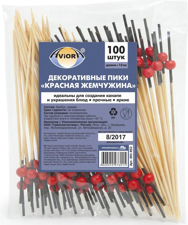 """Пики декоративные Aviora """"Красная жемчужина"""", длина 12 см, 100 шт"""